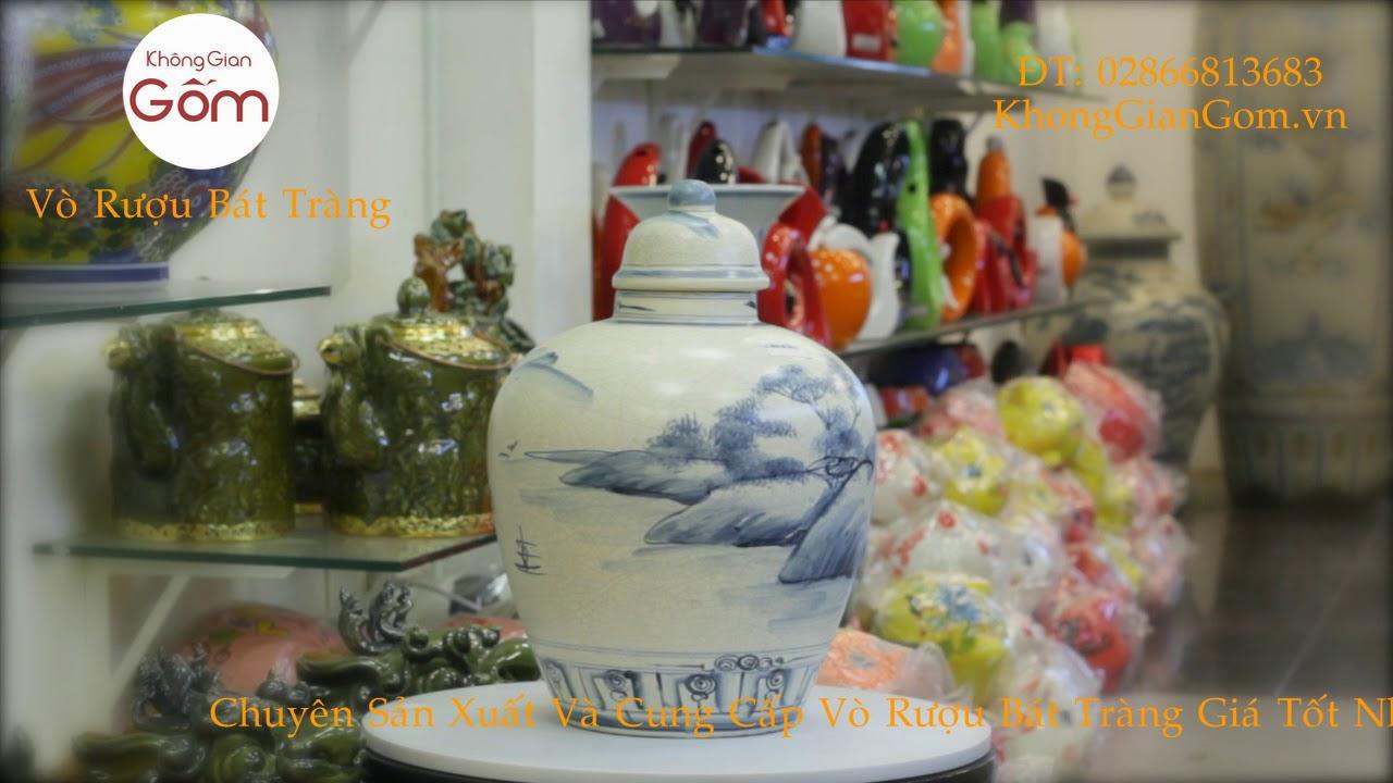 Vò ngâm rượu – Vò rượu men rạn Bát Tràng tại quân Tân Bình Tpcm