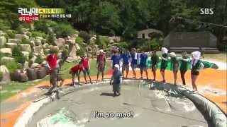 Running Man Ep209 Yoo Jae Suk Horrible Fate in the Hands of Kim Jong Kook!