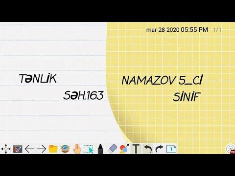 Namazov 5_ci sinif seh 163..Tənlik
