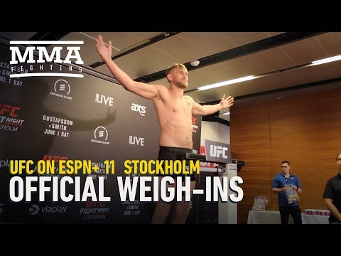 UFC Stockholm Official Weigh-In Highlights - MMA Fighting