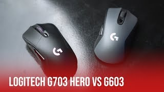 Logitech G703 HERO vs G603 | Mouse Comparison