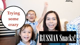 AMERICANS TRIES CRAZY  RUSSIAN SNACKS
