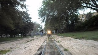 Union Pacific Runaway Rear View Train Ride Screams In A Tunnel