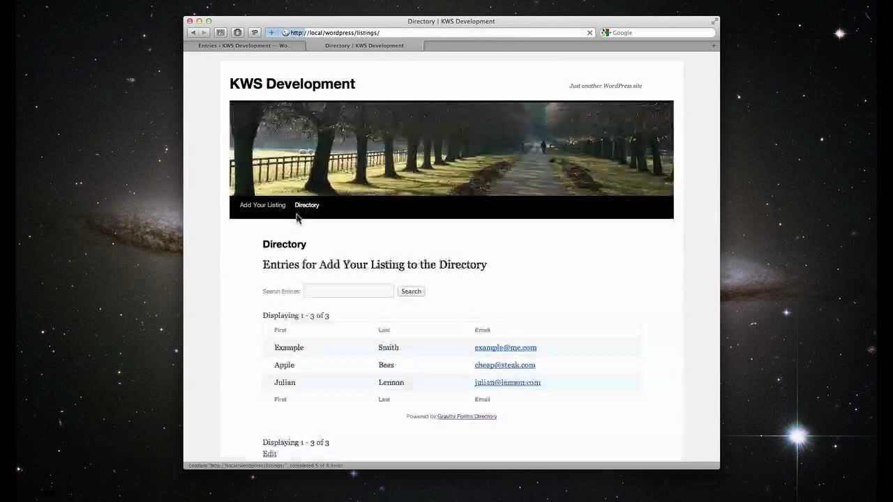 Gravity Forms Directory & Addons | Katz Web Services