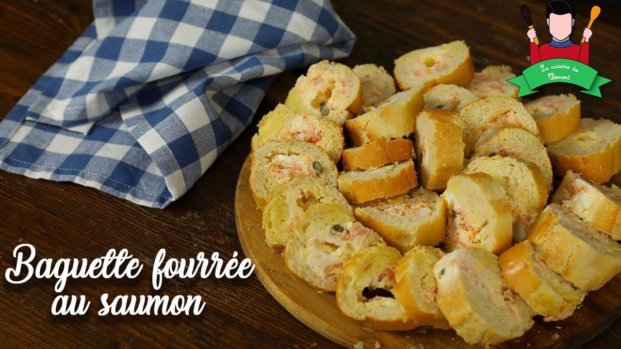 recette baguette fourr e au saumon ap ritif rapide. Black Bedroom Furniture Sets. Home Design Ideas