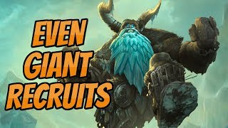 Even Silver Hand Recruits Giant Paladin | Little Giants?! | Hearthstone