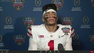 Justin Fields post-game interview   Sugar Bowl: Ohio State-Clemson