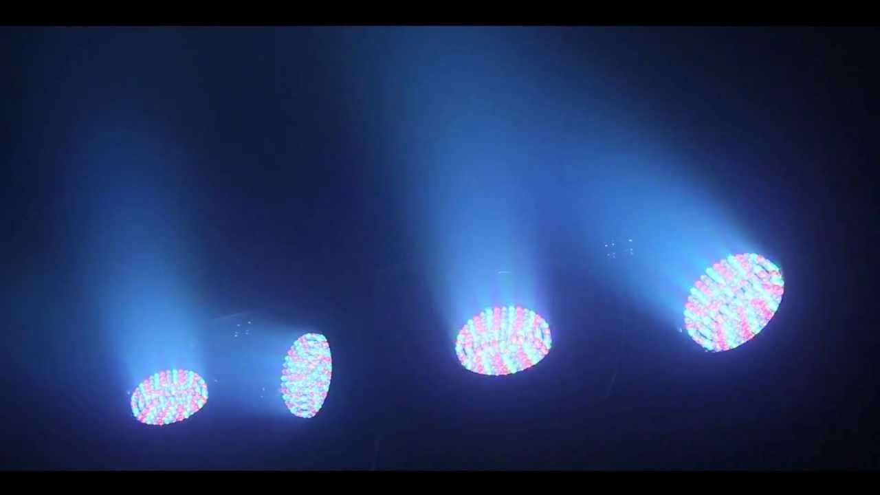 led lichteffekt qtx par bar 4 strahler stativ mobil youtube. Black Bedroom Furniture Sets. Home Design Ideas