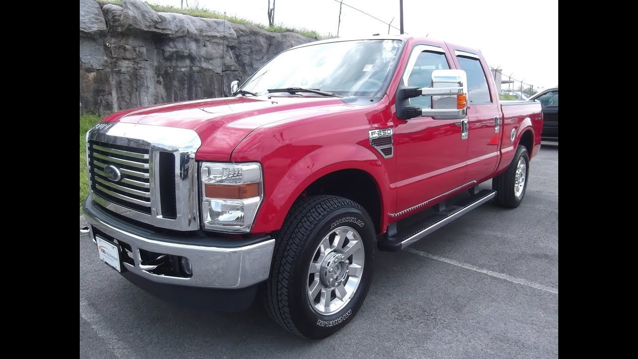2010 ford f 250 crew cab lariat 4x4 32k 6 4 diesel fx4 offroad certified loaded 888 439 1265 youtube