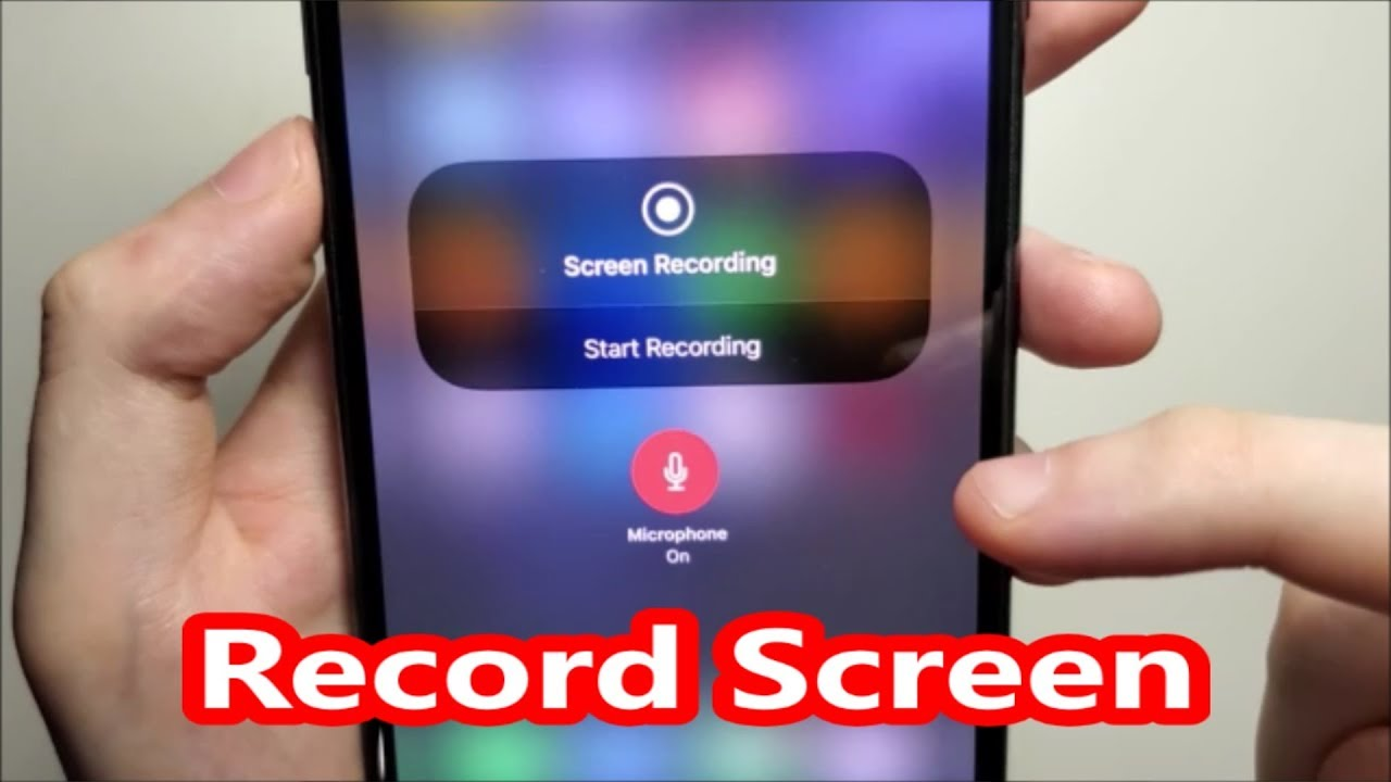Iphone 11 How To Record Screen Ios 13 14 Youtube