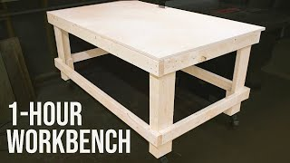 The 1-Hour Workbench / Outfeed Table // Woodworking DIY