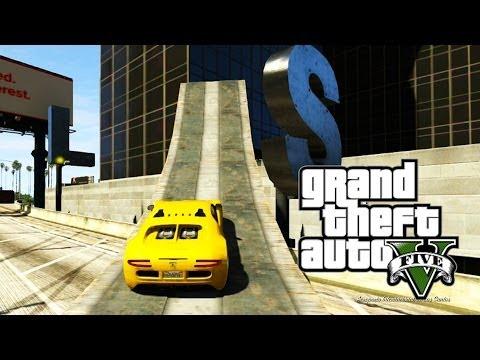 GTA ONLINE - Andando de Carro nas Paredes! (GTA 5 Online Gameplay)