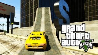 GTA ONLINE - Andando de Carro nas Paredes! (GTA 5 Online Gameplay)