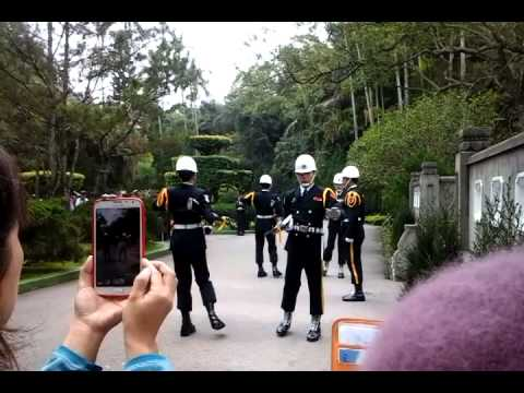 Drill in chiang kai shek tomb