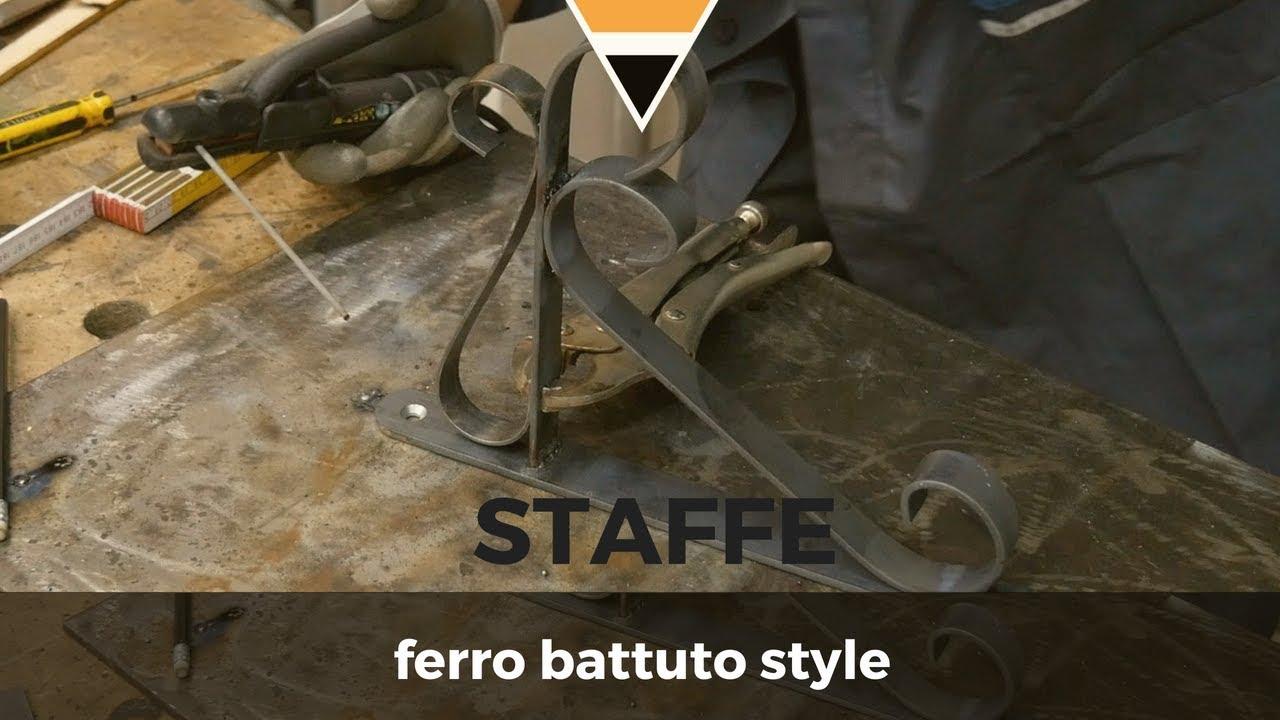 Staffe Angolari In Ferro Battuto.Fai Da Te Staffe In Ferro Battuto Style Youtube