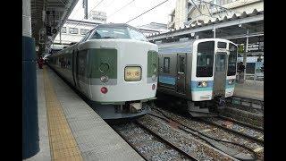 [鉄道車窓2018-05-19]快速桔梗ヶ原ワイナリー号 塩尻行(長野→塩尻)