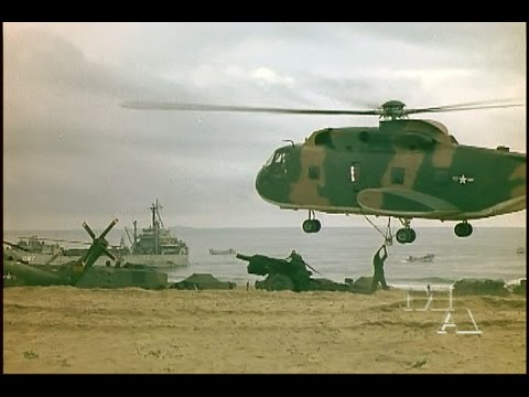 USAF 20th Helicopter Squadron CH-3C Jolly Green Giant helicopters in Marine Operation Double Eagle