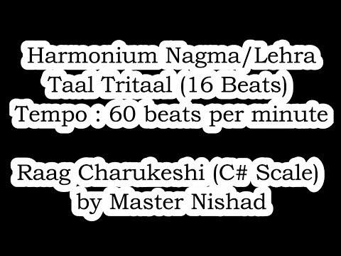 Lehra/Nagma in Raag Charukeshi (C#) | Taal Trital (16 Beats) | Tempo/Lay : 60 bpm | SPW