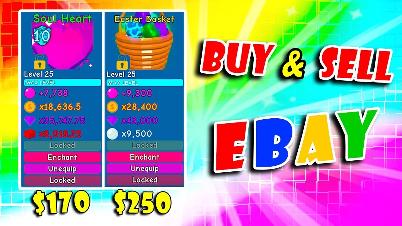 You Can Buy Or Sell All Secret Pets On Ebay Bubble Gum Simulator Roblox Youtube
