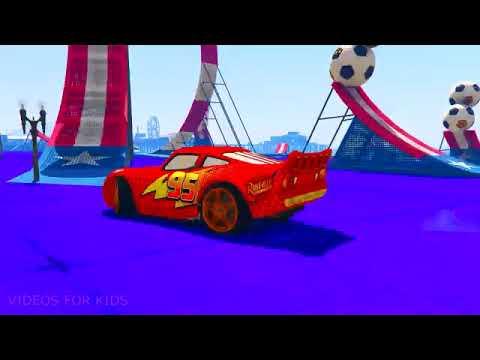 Kartun Mobil Anak Belajar Mengenal Warna Seru 13