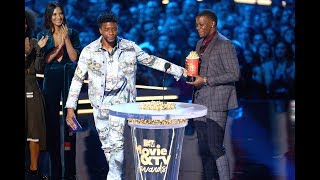 Chadwick Boseman Gives His MTV Movie Aw ard for Best Hero to Waffle House Hero James Shaw Jr