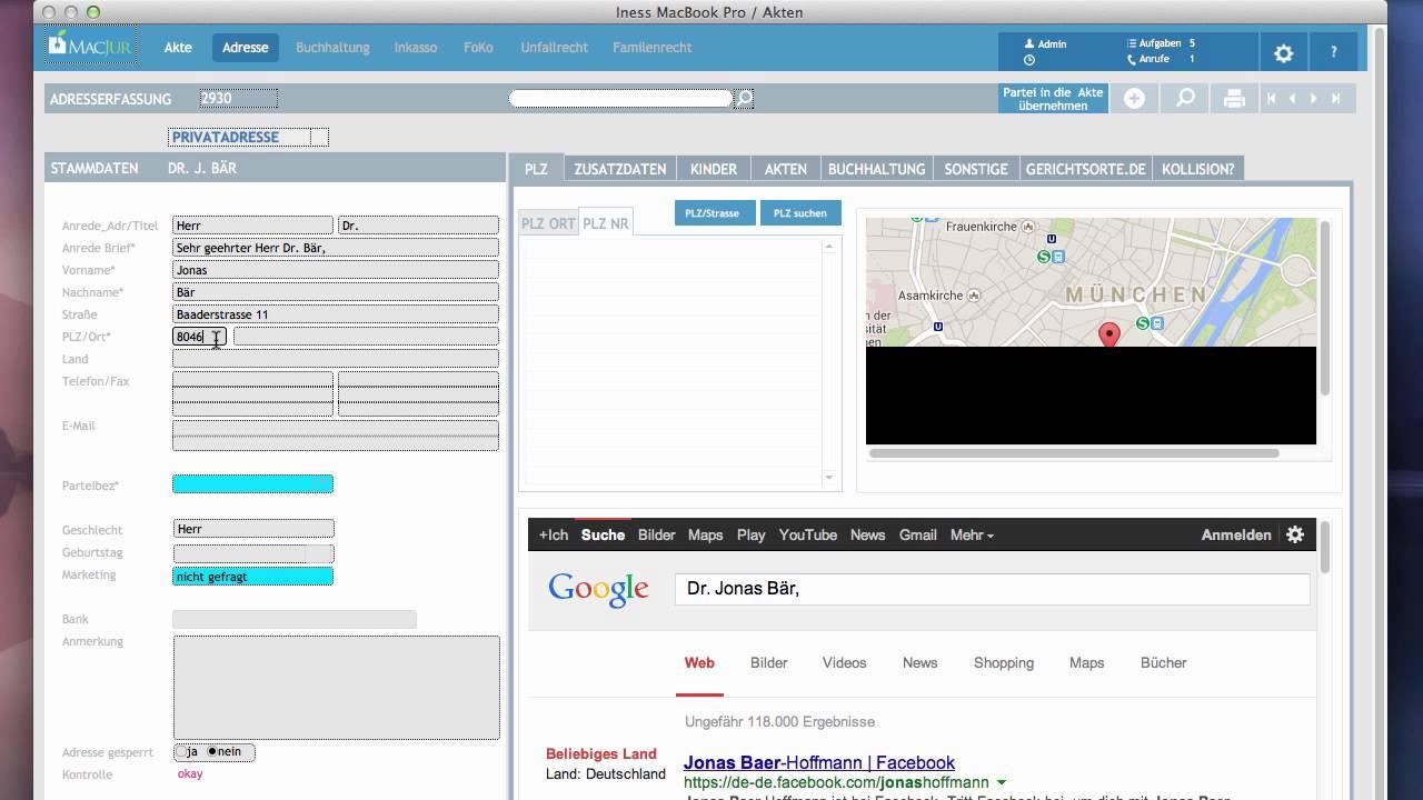 MacJur Webcast 02: Akten erstellen & Beteiligte zuordnen - YouTube