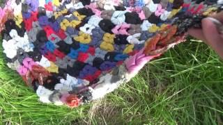 Коврик из ненужного трикотажа.( из носков, рукавов, колгот) ( Rug sock.)