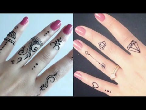 3 رسومات للحنة السوداء سهلة وبسيطة للمبتدئينن Henna Designs For