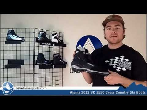 Alpina BC Cross Country Ski Boots YouTube - Alpina 1550