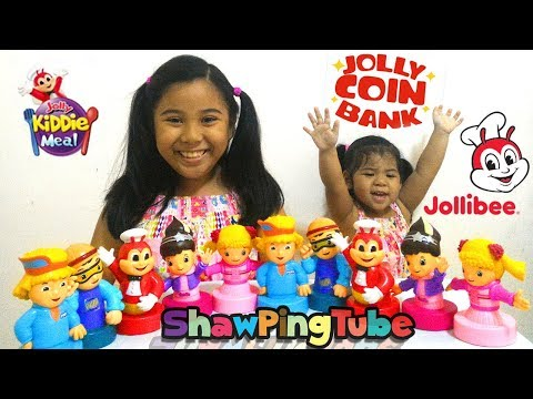 Jollibee Jolly Coin Bank - Jolly Kiddie Meal Toy 2017 - Complete Set