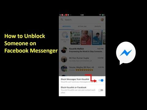 Вопрос: Как разблокировать человека в Facebook Messenger?