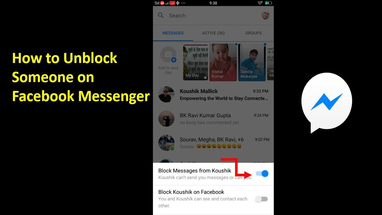 Block someone on messenger