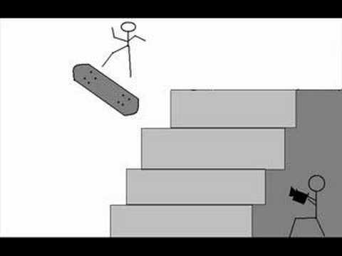 Dessin anim de skate 3 6 flip sur 4 block youtube - Dessin skateboard ...