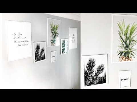 Home Decor 2019: Gallery Wall Using Poundland Products