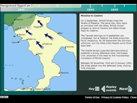 BBC Italian campaign map