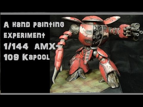 056: A hand painting experiment:1/144  AMX 109 Kapool
