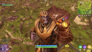 Fortnite Avengers Crossover Gameplay - Infinity Gauntlet Thanos Gameplay