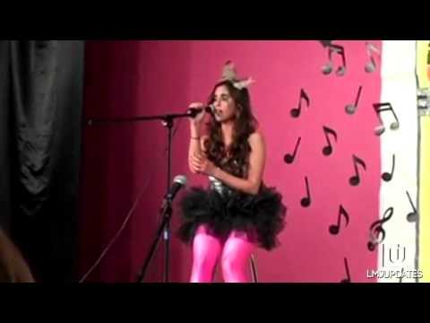 Lauren Jauregui singing Speechless and Paparazzi by Lady Gaga