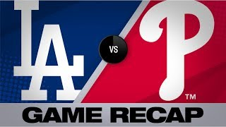 Harper's walk-off caps wild Phillies win | Dodgers-Phillies Game Highlights 7/16/19