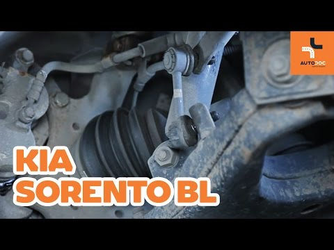 How to replace front anti roll bar link on KIA SORENTO BL TUTORIAL | AUTODOC