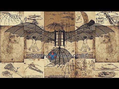 Leonardo Da Vinci - Flying Machine - Maneuver Animation