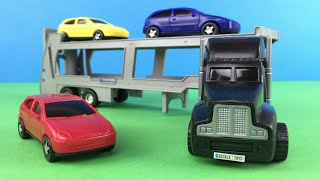 Dickie Toys - Autotransporter Big Truck with Colorful Small Car Toys for Boys Loading and Unloading