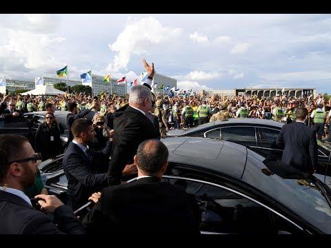 PM Netanyahu Arrives At The Brazilian MFA