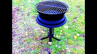 мангал - гриль из авто диска / How to make a charcoal grill with an automobile disk