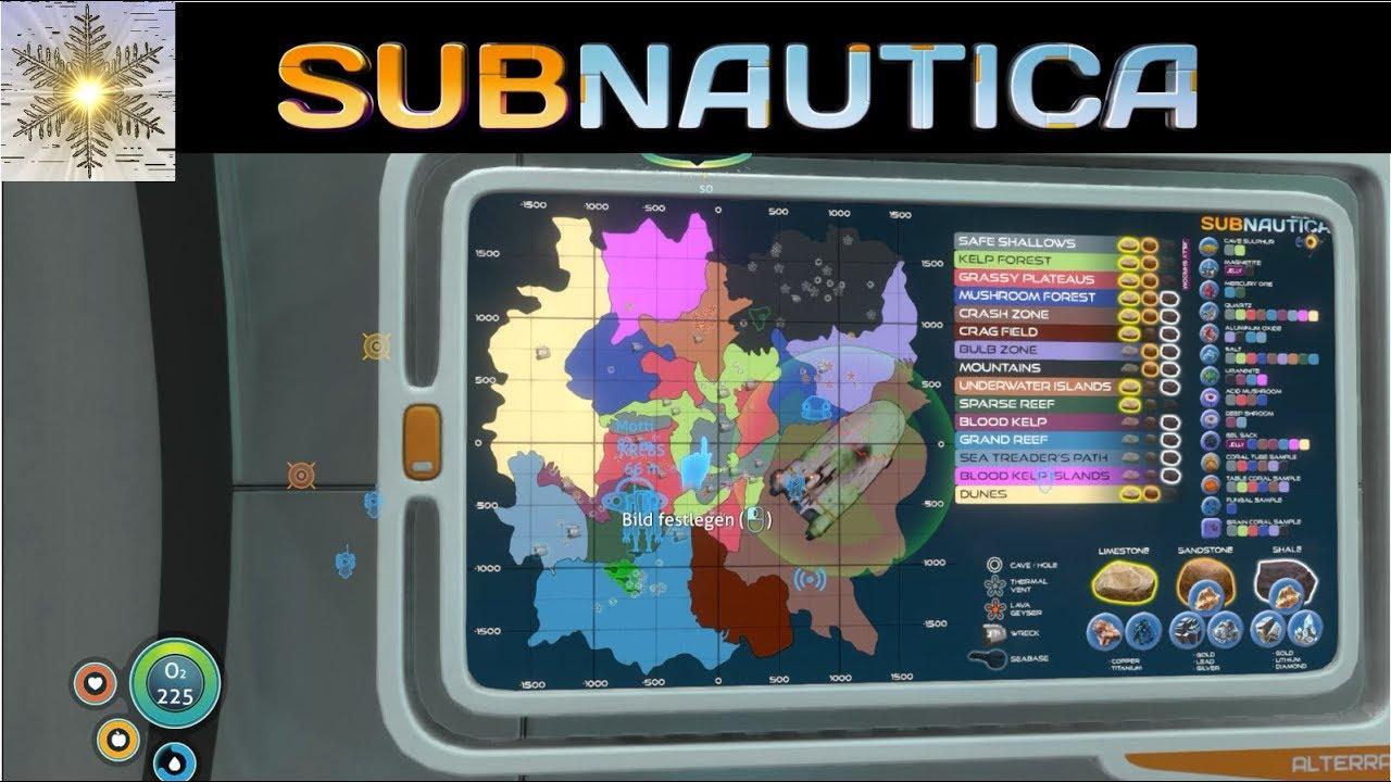 Subnautica Karte.Subnautica Full Release Eine Karte Im Zyklop 29 Gameplay German Deutsch