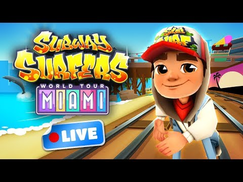 🔴 Subway Surfers World Tour 2017 - Miami Gameplay Livestream