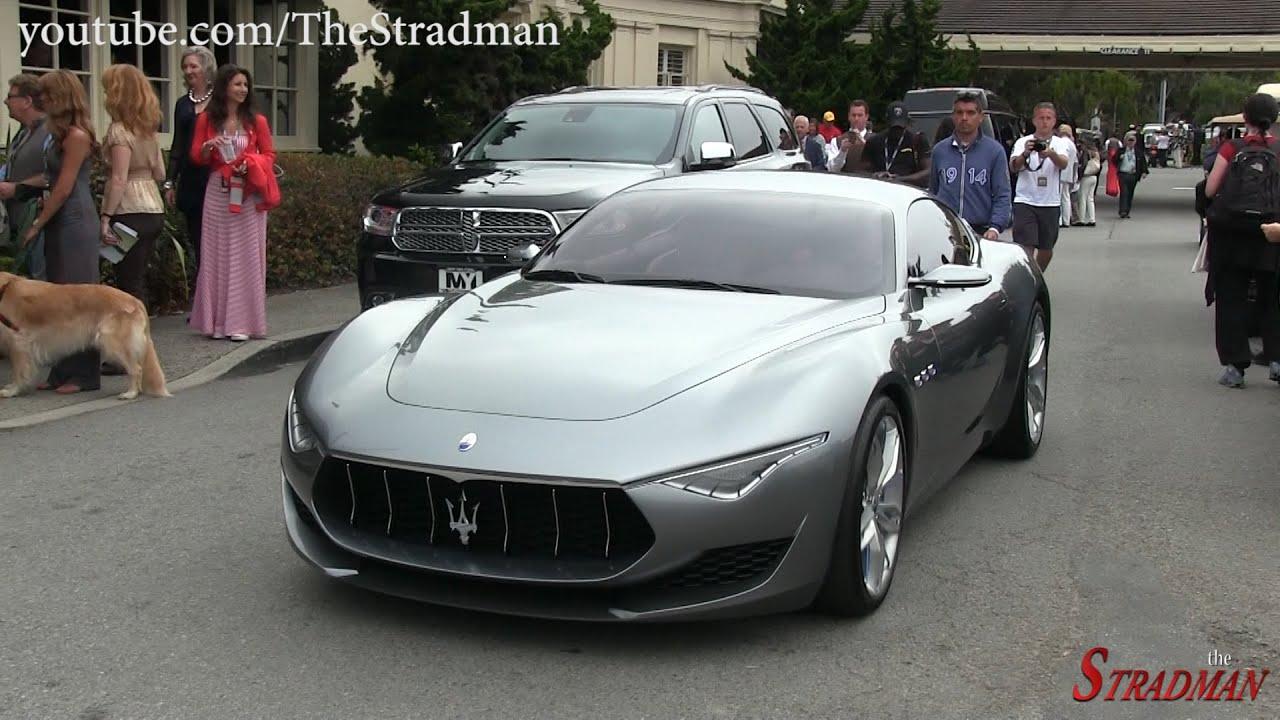 Maserati Alfieri Concept Car driving in Pebble Beach! - YouTube