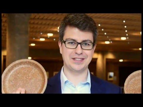 Start up BIOTREM makes tableware from wheat bran