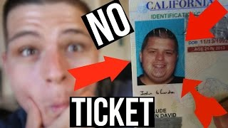 How My I.D. Got Me Out Of A Ticket! (180 Pound Weight Loss)
