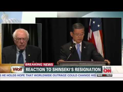 Sanders Reacts to Shinseki Resignation